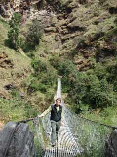 Bridge on Langtang trekking