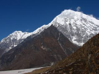 Mountains on the Langtang trek